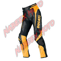 Ducati Motorbike Bikers Racing & Riding Leather Ducati Pants/Trouser Yellow blak