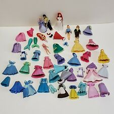 Huge Lot of Polly Pocket Dresses with Ariel The Little Mermaid Prince Eric