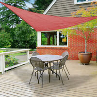Sun Shade Sail 12' Triangle Red Canopy UV Block Outdoor Patio Lawn Top Cover
