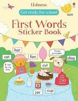 Get Ready for School First Words Sticker Book by Hannah Wood (Paperback, 2016)