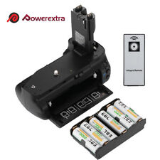 BG-E7 Vertical Battery Grip For Canon BGE7 EOS 7D DSLR Cameras + Remote Control
