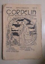 RIVISTA CORDELIA SETTIMANALE PER SIGNORINE LIBERTY N. 21 1911 ANICHINI