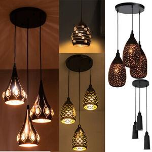 Vintage Modern Industrial Retro Ceiling Pendant Light Lampshade Loft Chandelier