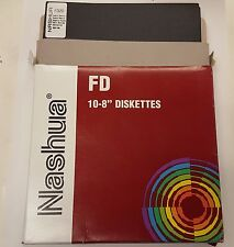 8 INCH FLOPPY DISKS. SEALED RETAIL BOX OF 10. Nashua Brand DS DD
