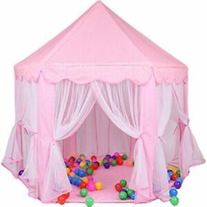 Princess Castle Tent Children Yurt Indoor Dollhouse Playing Hose For Girls Kids