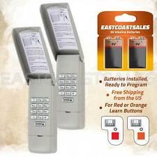 2 For Liftmaster 977LM Keypad Wall Garage Door Opener 139.53754 Red Orange Learn
