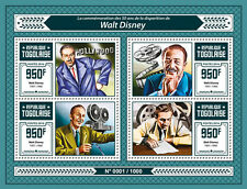Togo 2016 MNH Walt Disney 50th Memorial Anniv 4v M/S Cartoons Celebrities Stamps