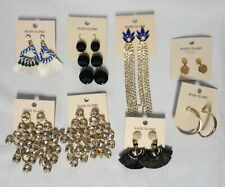 8 Pairs River Island Earrings Fans Hoop Drop - New with Tags