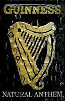 Guinness Natural Anthem Blechschild Schild 3D geprägt Metal Tin Sign 20 x 30 cm