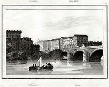TORINO CAPITALE. Ducato di Savoia.Regno di Sardegna. Artaud. Stampa Antica. 1835