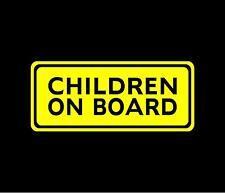 CHILDREN ON BOARD Vinyl Decal Car Window Bumper Sticker Child Safety Sign