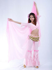 New Belly Dance Chiffon Shawl Veil Costume Gold Trim 13 colors