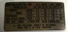 Suzuki GS750 Calcomanía de advertencia de precaución Etiqueta de la presión del neumático