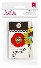American Crafts Embellishments ~ Bits ~ SoHo Mercer Street ~ TAGS ~ 4ct  ~ 85607