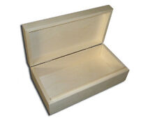 New Untreated Wooden Jewellery Cigaretes Tablets Box Wooden Box with lid
