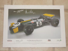 Wheatcroft / Bell Signed Brabham Ford Print