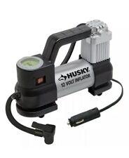 Husky 12-Volt Inflator with Pressure Gauge to 130 psi 937790