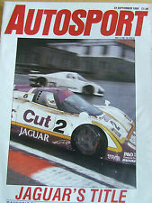 AUTOSPORT MAGAZINE SEP 1988 JAGUAR'S TITLE SAUBER SPA TWR RETAINS CROWN SCHANCHE
