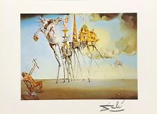 SALVADOR DALI HAND SIGNED * THE TEMPTATION OF SAINT ANTHONY *  COLORPLATE