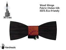 Wooden Bow Tie HandMade Clip-on Men's Gift Fashion Wedding, Valentine's Day