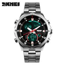 SKMEI Mens LED Digital Date alarm Sport Analog Military Wrist Watch chronograph