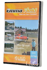 """LAGO Emma Field Add-On for FS2002 """"Where Life Meets Simulation."""" NEW Sealed PC"""