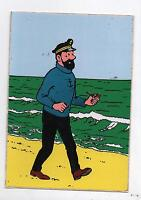 Hergé. Carte postale adhésive : HADDOCK. Editions Lombard 1973. Neuve