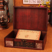 Wooden Vintage Treasure Chest Jewelery Ring Storage Box Case Organiser Gifts