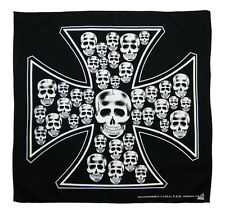 k052 Totenkopf Maske Kopftuch Bandana Halstuch Tuch Biker Sport Motorrad Schutz