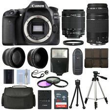Canon EOS 80D SLR Camera + 4 Lens Kit 18-55 STM + 75-300mm + 16GB Top Value Kit