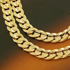 Exquisite men's 14k yellow solid gold GF real pricker necklace chain Re-listing