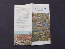 Reise Faltprospekt, Stadtplan von Malmö in Schweden, 1960, englisch