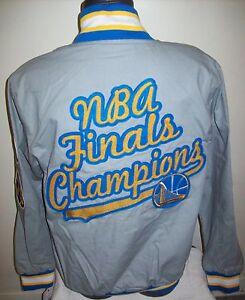 "GOLDEN STATE WARRIORS ""NBA FINALS CHAMPIONS"" Cotton Jacket  GRAY M L XL 2X"