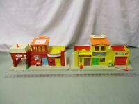 Fisher Price Little People Town Play Family Village 997 CA Fire Mail box