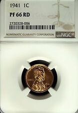1941 NGC PF 66 Red Lincoln Cent☆☆Gorgeous Details☆☆Flashy Red Mirrors☆☆