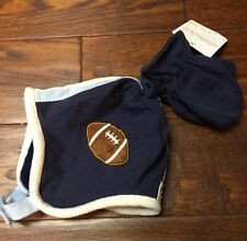 Starting Out Navy Football Helmet Style Hat With Mittens - NWT - Infant