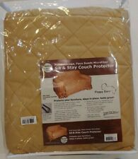 Floppy Ears Faux Suede Sit & Stay Couch  Protector Medium Tan Reg $199 NWT