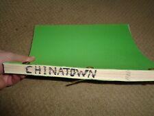 Chinatown Robert Towne 3rd Draft movie script Robert Evans Jack Nicholson 1973