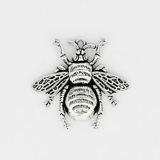 5 x Lovely Honeybee Bee Insect Tibetan Silver Charms Pendants Beads 40x37mm
