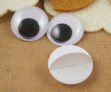 100pcs 15mm round wiggly wobbly googly eyes with self-adhesive peel sticker