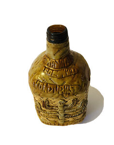 Honduras Clay Art Decorative Bottle Wicker Beads Twist Top Barware Souvenir