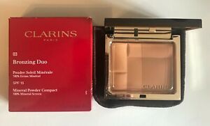 Clarins Bronzing Duo Mineral Powder Compact 10g - Choose Shade - Free Post -