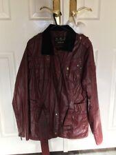 Barbour International Ladies Wax Jacket Red, Black Lining Size 10