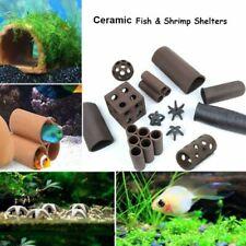 Aquarium Ceramic Rock Cave Shrimp Fish Tank Hide Shelter Breeding Pottery House