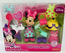 Disney's Playset Minnie Mouse Ball Gala Fisher Price Snap On Dress Up New in Box
