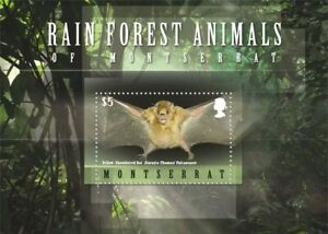 Montserrat - 2009 Yellow-Shouldered Bat of Montserrat - Souvenir Sheet - MNH