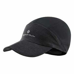 Ronhill Split Air-Lite Breathable Running Cap Charcoal Marl/Black