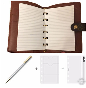 fits Louis Vuitton PM Small LV Agenda: Planner Refill Paper +Pouch + Insert Pen