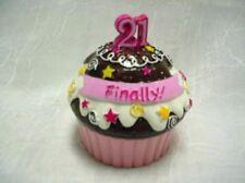 Ganz Ceramic Mini Cupcake Trinket Box-Finally 21