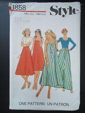 Vintage 1977 Sewing Pattern Wrap-Around Skirt & Sleeveless Dress Uncut Size 14